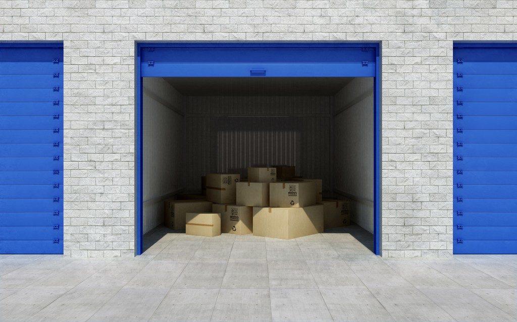storage unit full of boxes