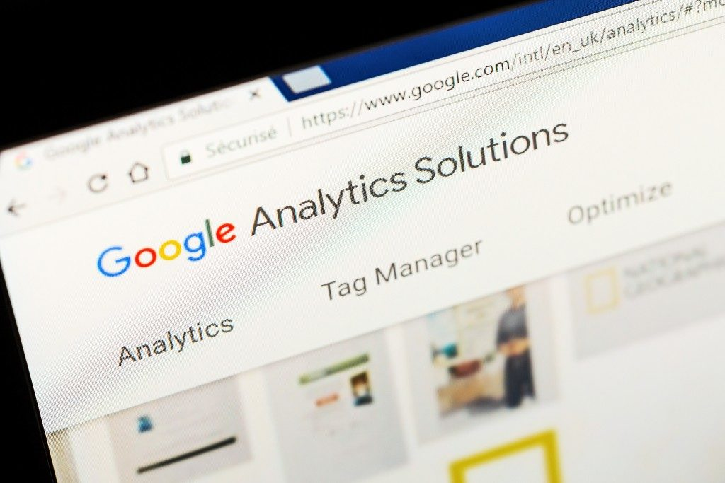 laptio screen showing google analytics page