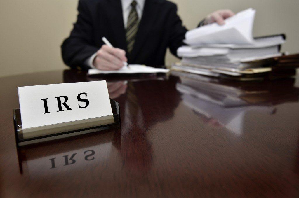 IRS tax auditor man