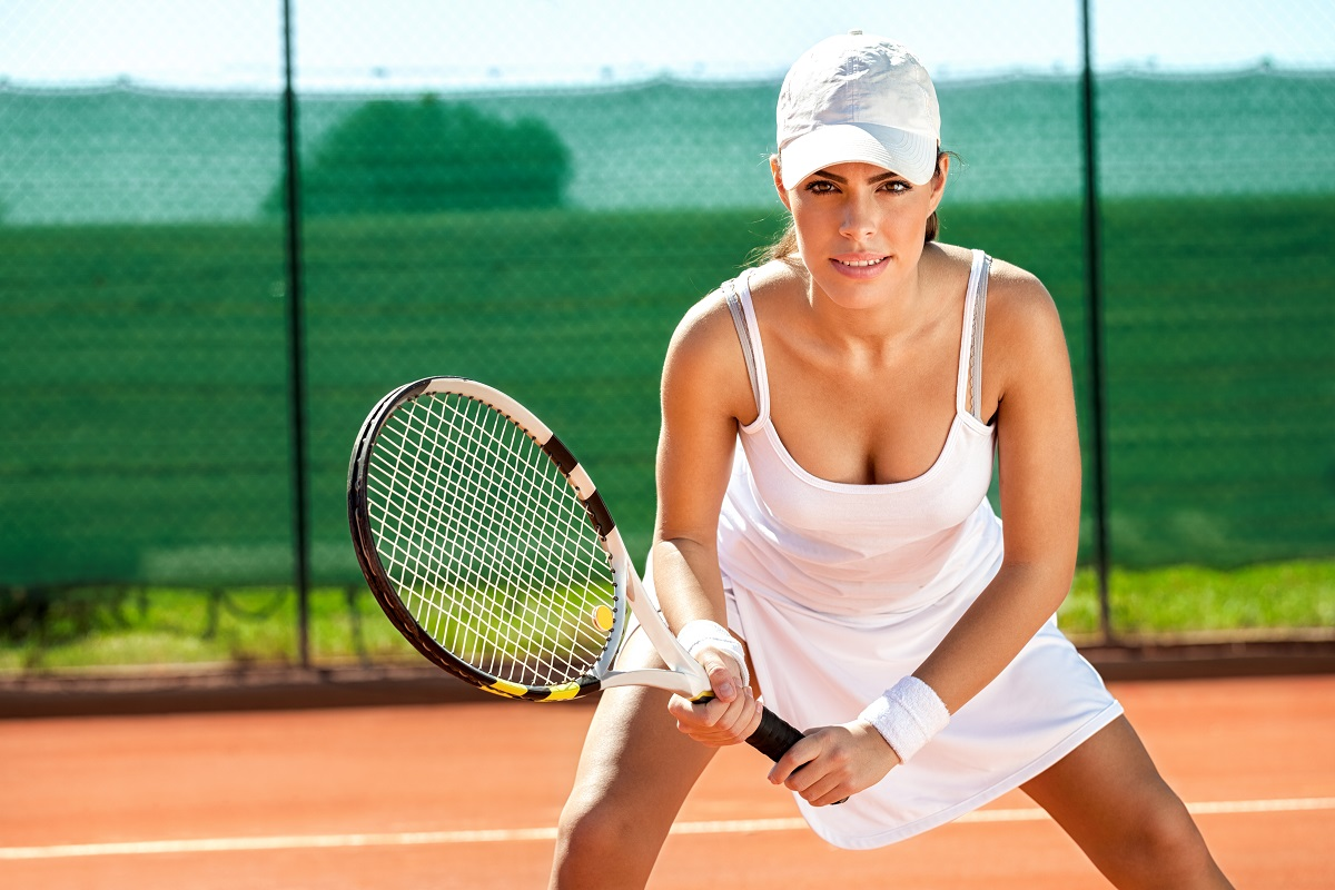 woman wearing tennis apparel