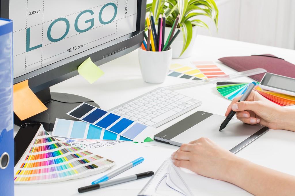 person creating a brand logo