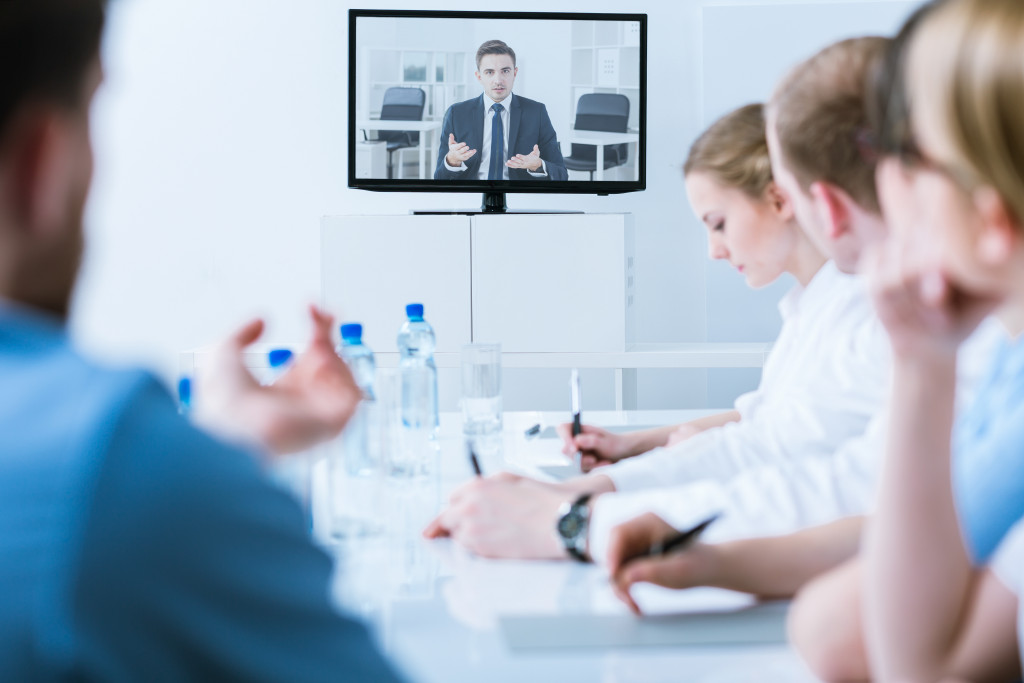 meeting with video call